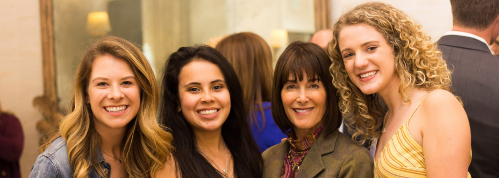 Allison Tamte, Andrea Garcia, Anne Smith Towbes, and Aeva Schrambach at the 2019 Women's Leadership Luncheon