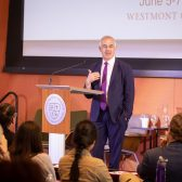 Author David Brooks speaks at Lead Where You Stand