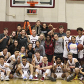 The men's and women's teams celebrate GSAC Regular Season Championships