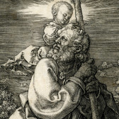 "Albrecht Durer's ""St. Christopher with the Christ Child Looking Left"""